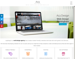 Screenshot of the a13 Design - Wesley Brooks homepage