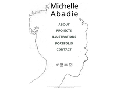 Screenshot of the MIchelle Abadie Web Design homepage