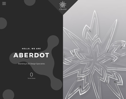 Screenshot of the Aberdot homepage