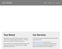 Screenshot of the Accend Website Design Solutions homepage