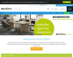 Screenshot of the Active Office homepage