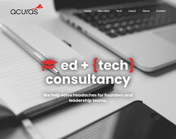 Screenshot of the Acuras homepage
