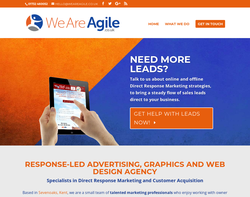 Screenshot of the Agile Creative homepage