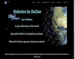 Screenshot of the Alan's Web Design Services homepage