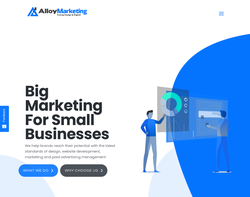 Screenshot of the Alloy Marketing Ltd homepage