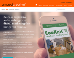 Screenshot of the Amasci Creative Limited homepage