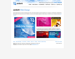 Screenshot of the Ambrit Ltd homepage