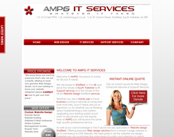 Screenshot of the AMPG IT Services Ltd homepage