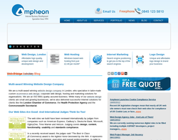 Screenshot of the Ampheon homepage