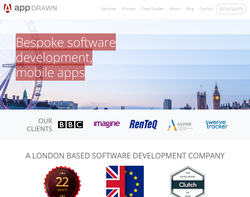 Screenshot of the AppDrawn Software Development homepage