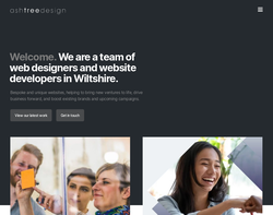 Screenshot of the Ash Tree Design homepage