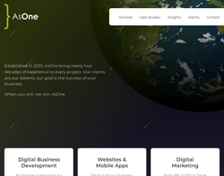 Screenshot of the AsOne Design Limited homepage