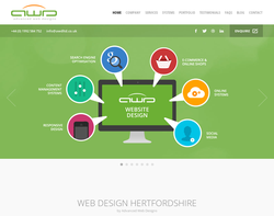 Screenshot of the Advanced Web Designs Ltd homepage