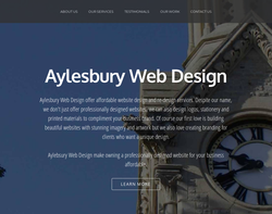 Screenshot of the Aylesbury Web Design homepage