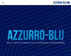 Screenshot of the Azzurro Blu Ltd homepage