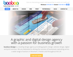 Screenshot of the Baabaa Design Ltd homepage