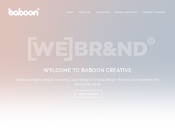 Screenshot of the Baboon Creative Industries Limited. homepage