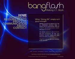 Screenshot of the Bangflash Limited homepage