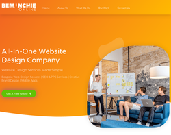 Screenshot of the Bemunchie Online homepage