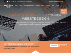 Screenshot of the Best Cheap Web Design homepage