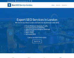Screenshot of the Best SEO Service London homepage