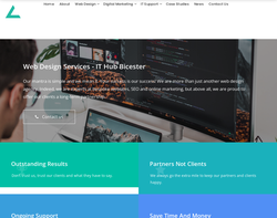 Screenshot of the Bicester IT Hub homepage