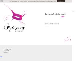 Screenshot of the Bimbo Design homepage