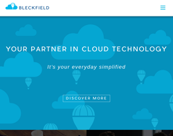 Screenshot of the Bleckfield  homepage