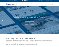 Screenshot of the  BlueCubes Enterprises Ltd. homepage