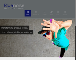 Screenshot of the Blue Noise Design homepage