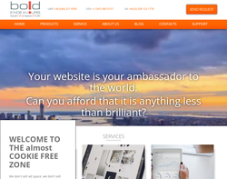 Screenshot of the Bold Endeavours Ltd homepage