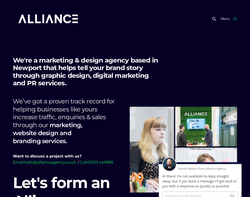 Screenshot of the BrandNuCreative Ltd homepage