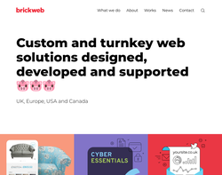 Screenshot of the Brickweb technology Ltd homepage