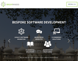 Screenshot of the BrightMinded Ltd homepage
