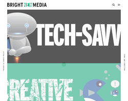 Screenshot of the Bright New Media homepage