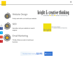 Screenshot of the Bright Yellow Design homepage