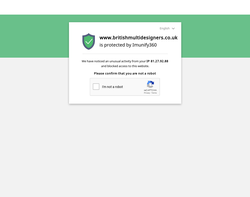 Screenshot of the British Multidesigners homepage