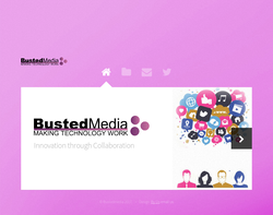 Screenshot of the Bustedmedia homepage