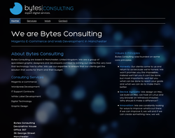 Screenshot of the Bytes Consulting - John Cuthbert homepage