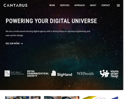 Screenshot of the Cantarus homepage