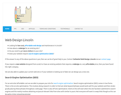 Screenshot of the Cathedral Web Design homepage
