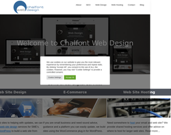 Screenshot of the Chalfont Web Design homepage