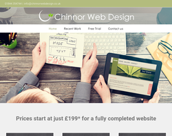 Screenshot of the Chinnor Web Design homepage