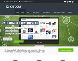 Screenshot of the Ciscom Internet homepage