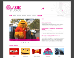 Screenshot of the Classic Studios Ltd homepage