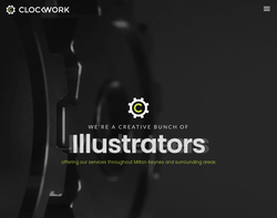 Screenshot of the Clockwork Design Ltd homepage