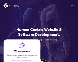Screenshot of the Code Galaxy homepage
