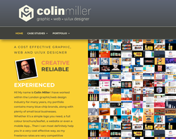 Screenshot of the Colin Miller Limited homepage