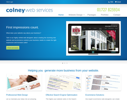 Screenshot of the Colney Web Services homepage
