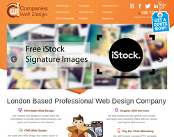 Screenshot of the Companies Web Design London homepage